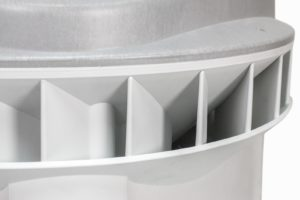 HSV Technical Moulded Parts, complex housing assembly for roof fan