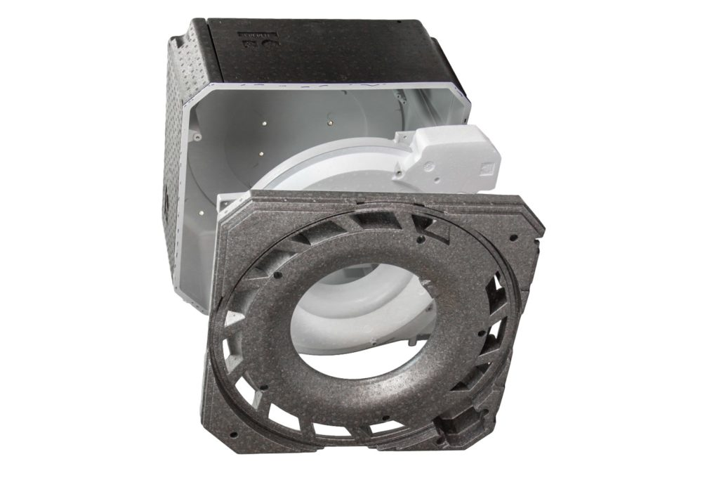HSV technical Moulded Parts, hybrid solution Complex assembly for ceiling ventilation